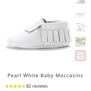 Other - Bird rock baby white pearl Moccasins